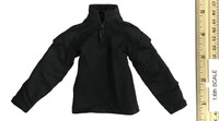 The Tough Guy - Black Zip Up Long Sleeve Shirt w/ Built in Elbow Pads