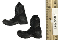 Russian Spetsnaz FSB Alfa Group 3.0 (Black) - Lace Up Black Boots (For Feet)