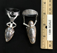 Silver Huntress - Knee & Thigh Armor