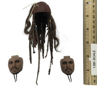 POTC: Dead Men Tell No Tales DX15: Jack Sparrow - Head w/ Swappable Faces (PERS w/ Neck Joint) (Limit 1)