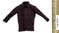 Western Story: Redhead Denny - Maroon Long Sleeve Cowboy Shirt