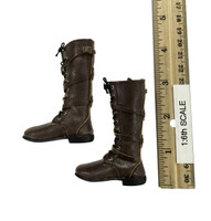 Monster Hunter Helsing - Brown Leather Boots (For Feet)