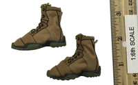 "Doomsday War Series Death Squad: ""K"" Caesar - Lace Up Desert Boots (For Feet)"