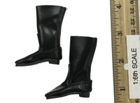 Soviet Female Sniper Uniform Set - Black Leather Boots (For Feet)