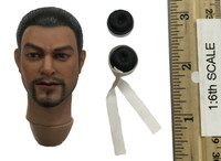 Ming Dynasty: Qi Troop Guard Leader  - Head (Calm) w/ Topknot (Magnetic) (No Head Joint)