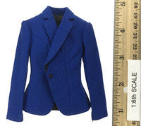 Office Lady Female Dress Suit Sets - Jacket (Blue)