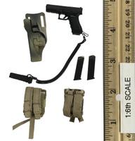 KSM Kommando Spezialkrafte Marine - Pistol (Glock 17 9mm) w/ Holster and Ammo Pouches