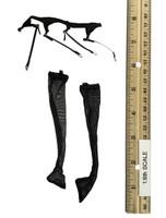 Space Officer Set - Stockings w/ Garter Belt (Black)