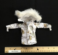 "The Snow Queen ""Shirley"" - Heavy Whit Camo Coat w/ Fur Collar"