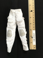 "The Snow Queen ""Shirley"" - White Cargo Pants w/ Built in Kneepads"