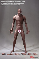 Super Flexible Seamless Male Body: Muscular w/ Metal Structure - Boxed Figure (PL2018-M36B) (Brown)