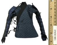 Butterfly Helmets Female Warriors: Black Armor (Deluxe Version) - Kimono w/ Armor Sleeves (Kosode)