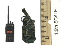 Snow Leopard Commando Unit - Team Member - Walkie Talkie / Radio w/ Pouch