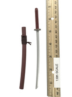 Samurai Swords Set - Katana (Red) (Metal)