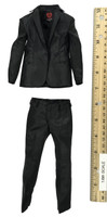 Gangster Kingdom: Heart 4 Vincent & Kerr - Dark Pinstriped One Button Suit (Kerr)