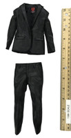 Gangster Kingdom: Heart 4 Vincent & Kerr - Dark Pinstriped 2 Button Suit (Vincent)