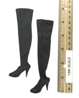 Woman Hero Female Character Sets - Boots (Black) (For Feet)
