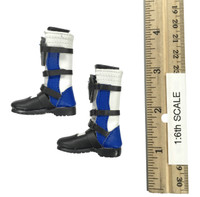 Female Character Set CT-013 Tifa - Boots (Blue) (For Feet)