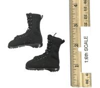 Villa Sister Flower (Police Black Python Stripe) - Boots w/ Ball Joints