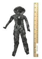 Villa Sister Flower (Police Black Python Stripe) - Tactical Jumpsuit (Police Black Python Stripe)