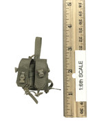 Military Female Character Set - Dropleg Double Rifle Ammo Pouch (Light Green)