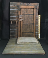 The Door of the Haberdashery Diorama Set - Door w/ Floor & Shelf