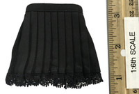 Battle Girls Uniform Sets - Mini Skirt w/ Lace on Bottom(Black)