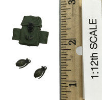 75th Ranger Regiment: Chalk Leader (1/12th Scale) - Grenades w/ Pouch