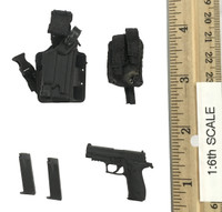 Seal Team Navy Special Forces HALO - Pistol (P226) w/ Holster & Pouch