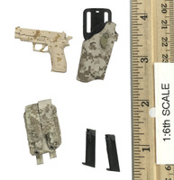 Seal Team Navy Special Forces  - Pistol (P226) w/ Holster & Pouch