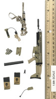 Seal Team Navy Special Forces  - Rifle (FN MK17 SCAR) (AS IS) (Barrel Tip Broken Off but Included)
