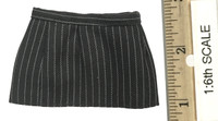 Sexy Female Secretary Suit Sets - Pin Striped Mini Skirt (Black)
