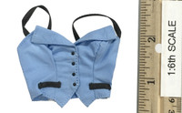 Sexy Female Secretary Suit Sets - Halter Top  (Light Blue)