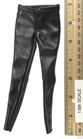 Locomotive Girl Leather Set - Black Leather Skinny Leg Pants