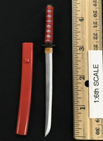 Female Samurai Rin - Wakizashi (Red) (Metal)