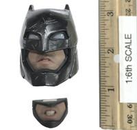 Armored Batman (Black Chrome Version) - Head w/ Interchangeable Face Plate (Electronic Lights - No Neck Joint)