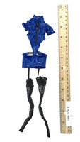 Policewoman Uniform Sets - Leather Dress w/ Stockings (Blue)