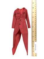 Fashionable Deep V-Neck Trenchcoat Suit Sets - Trench Coat (Red) (Wired)