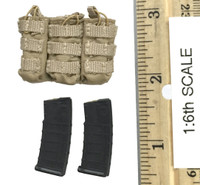 A-TACS FG Double Women Soldier Jenner - Rifle Ammo (M4) w/ Pouch (Tan)