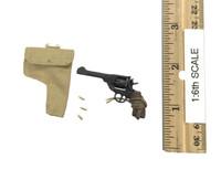 """British Airborne Red Devil Commander """"Roy"""" - Pistol w/ Bullets & Holster (Enfiled MK I Revolver) (Metal)"""