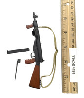 "British Airborne Red Devil Commander ""Roy"" - Rifle w/ Bayonet & Spring Action (Sten Mark V) (Metal & Wood)"