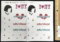 Girl Crush: Professional Killer 'M' - Sticker Sheet
