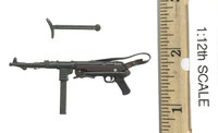 WWII German Panzer Division Major (1/12th Scale) - Submachine Gun (MP40)