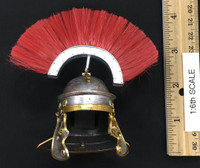 Roman Imperial Army Centurion - Helmet w/ Feathers (Metal) (Fits Over Head)