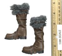 Barbarian Set A (Conan) - Boots w/ Fur (No Ball Joints)