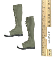 Combat Girl Custom Set - Boots (Green) (For Feet)