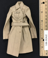 Female Trench Coat Sets - Trench Coat (Tan)