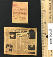 "Misty Midnight: Jack the Ripper (Deluxe Version) - ""From Hell"" Letter & Newspaper"