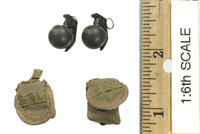 Operation: Red Sea PLA Navy Marine Saw Gunner Zhang Tian De - Grenades (2) w/ Pouches