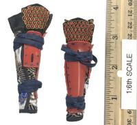 Female Samurai Ryou (Red Armor) - Lower Leg Armor (Suneate)